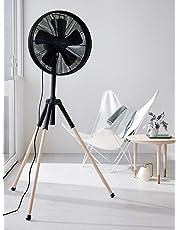 Beacon Lighting - Lucci Air Breeze 41cm Tripod Fan in Black/Ashwood