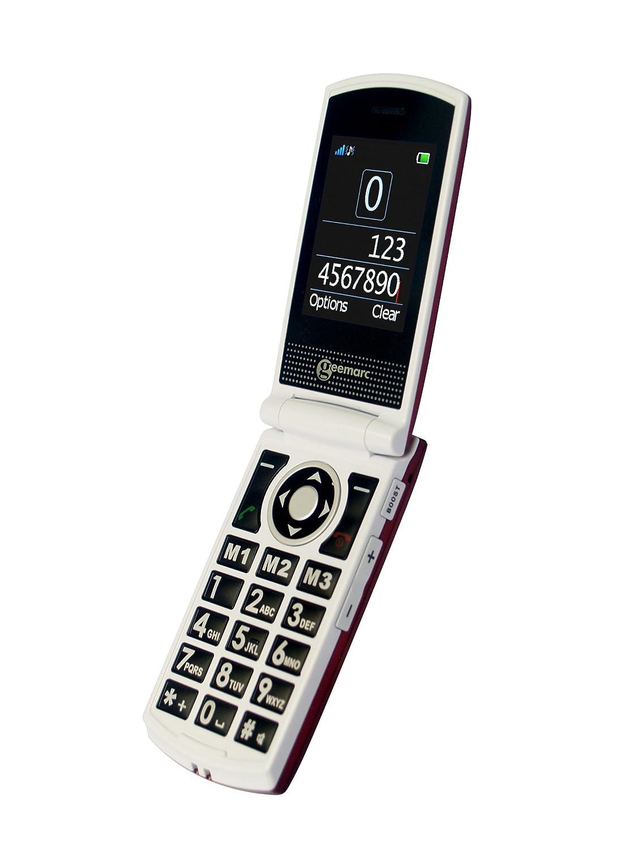 Téléphone GSM GEEMARC CL8450 ROUGE BLANC