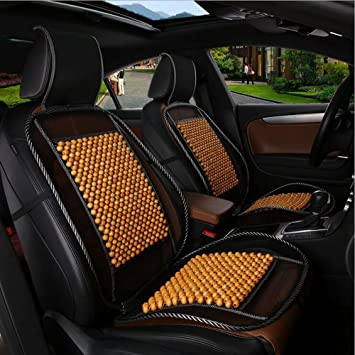 NATURAL WOOD BEADED SUMMER MASSAGE CAR SEAT COVER COOLING WOODEN FRONT SEAT PAD