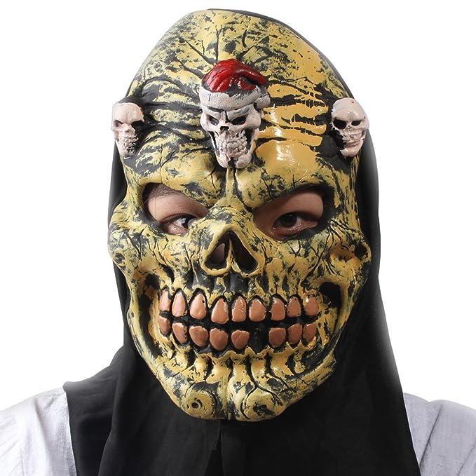 SaiDeng Halloween De Fiesta De Disfraces Cráneo Máscara De Miedo