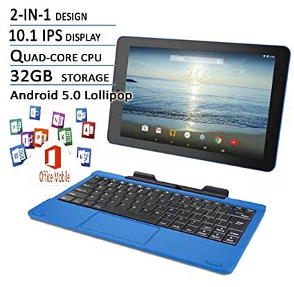 85a1ea93b RCA Viking Pro Blue Edition 10 Inch Touchscreen 2 In 1 Tablet Laptop (Quad-