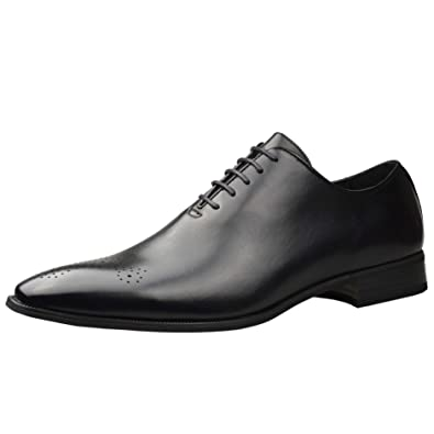 1d851a212316 Robelli Mens Fashion New Black Leather Oxford Shoes Formal Smart UK ...