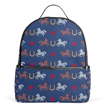 COOSUN Carreras de caballos y herraduras Patrón mochilas escolares mochilas para Niños Niñas Adolescentes Niños Medio Multi # 2: Amazon.es: Equipaje