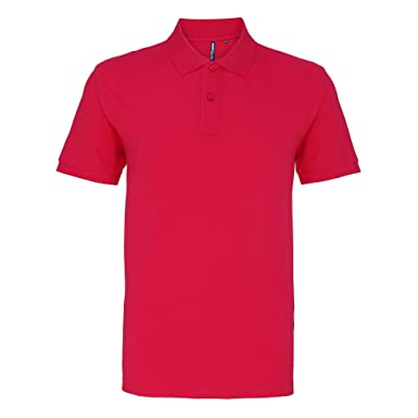 Asquith & Fox Asquith and Fox Mens Polo, Rosa (Hot Pink 000), X ...