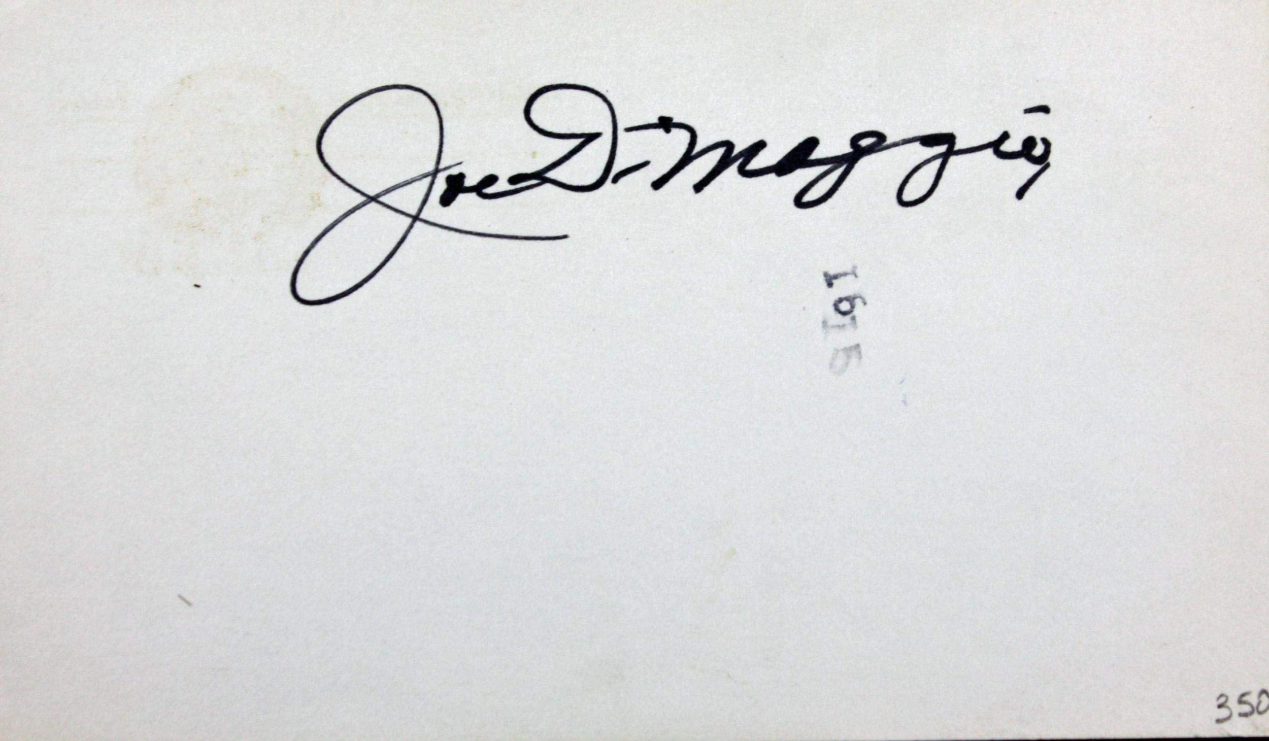 Joe DiMaggio Signed 35 Index Card Yankees BOLD Mint 10/10 Autograph MLB Cut Signatures