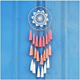 Handmade 8inch/20cm Tassel Dream Catcher Wall Hanging Decoration Beautiful Item Dreamcatcher Christmas Gift (Pink)