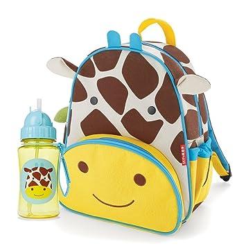 Skip Hop Zoo Pack Mochila bolsa de paja y botella Combo - jirafa: Amazon.es: Bebé