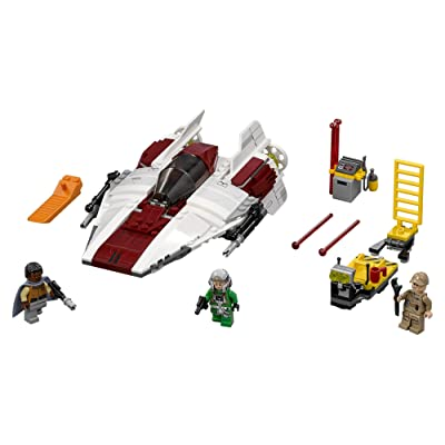 LEGO Star Wars A-Wing Starfighter 75175 Building Kit (358 Piece), Multi: Toys & Games