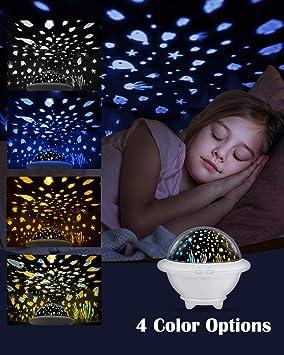 Proyector de Luz Nocturna, HAMSWAN Iluminación Infantil UFO ...