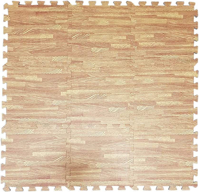 L x W x H Indoor /& Outdoor Use Children/'s Play Area 90cm x 90cm x 1cm Trimming Shop Wood-Effect Floor Mats Interlocking Jigsaw Thick Foam Tiles Play Mats for Floor Coverage 9pcs