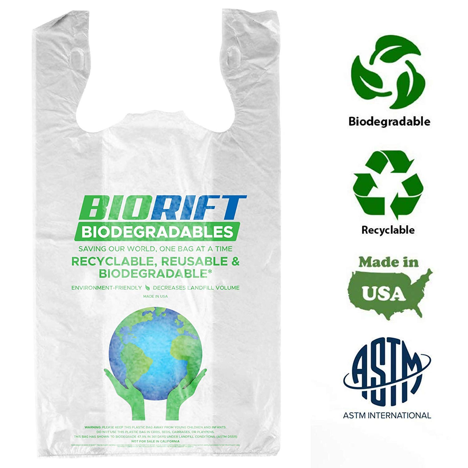 BioRift Eco Friendly, 100% biodegradable y compostable certificado ...