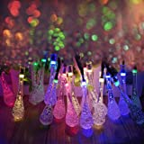 LEDniceker Multi-colored Solar LED String Lights with Garden Solar Panel, for Garden, Patio, Christmas Tree, Parties and All Outdoor and Indoor Activities Decoration (4.8 Meters Long, 20 Waterproof bulbs)