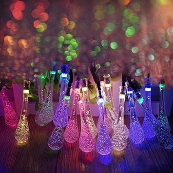 LEDniceker Multi Colored Solar LED String Lights With Garden Solar Panel,  For Garden,