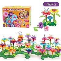 GEMEM Flower Garden Building Toys 148 Pieces Build-a-Bouquet Stem Toy Set for Preschool...