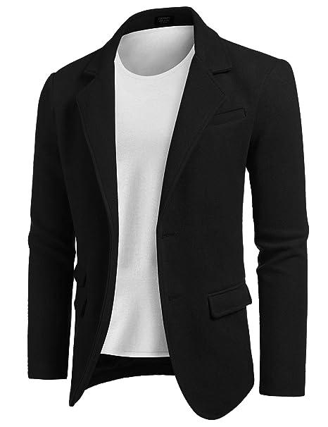 Amazon.com: COOFANDY - Chaqueta de lana para hombre, estilo ...