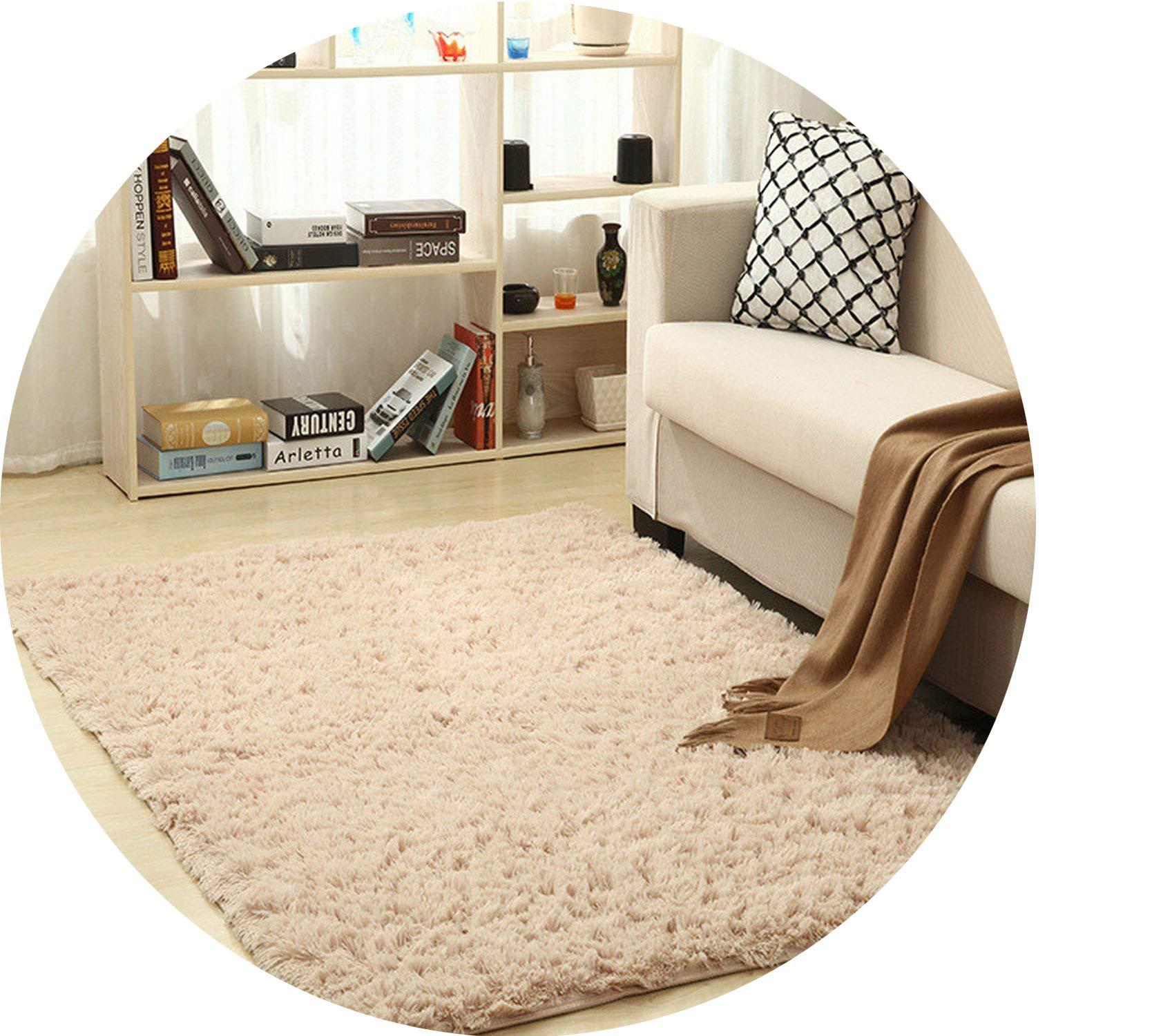 Super Soft Silk Wool Rug Indoor Modern Shag Area Rug Silky Rugs Bedroom Floor Mat Baby Nursery Rug Children Carpet,Shallow,160X200cm by Ting room