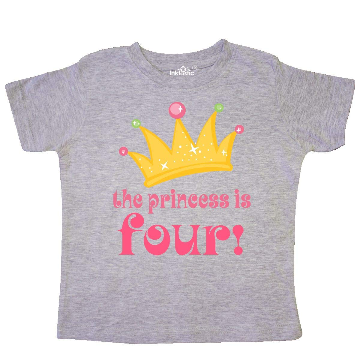 inktastic 4th Birthday Princess is 4 Toddler T-Shirt