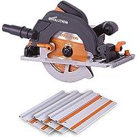 Evolution Power Tools 027-0003 Evolution Power Tools-R185CCSX mångsidig cirkelsåg kompatibel med styrskenor…