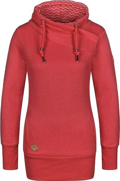Ragwear Sweater Damen NESKA 1821 30074 Rot Red 4000