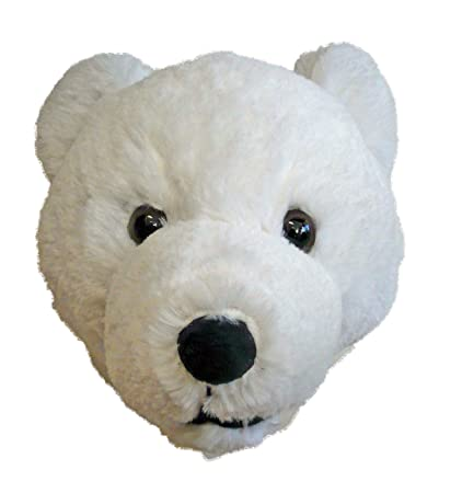 Amazon Com Stuffed Animal House 7 Inch Polar Bear Head Plush Wall