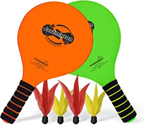 Funsparks Paddle Ball Jazzminton Game - All-Season Indoor/Outdoor Racquet Game for Active Play