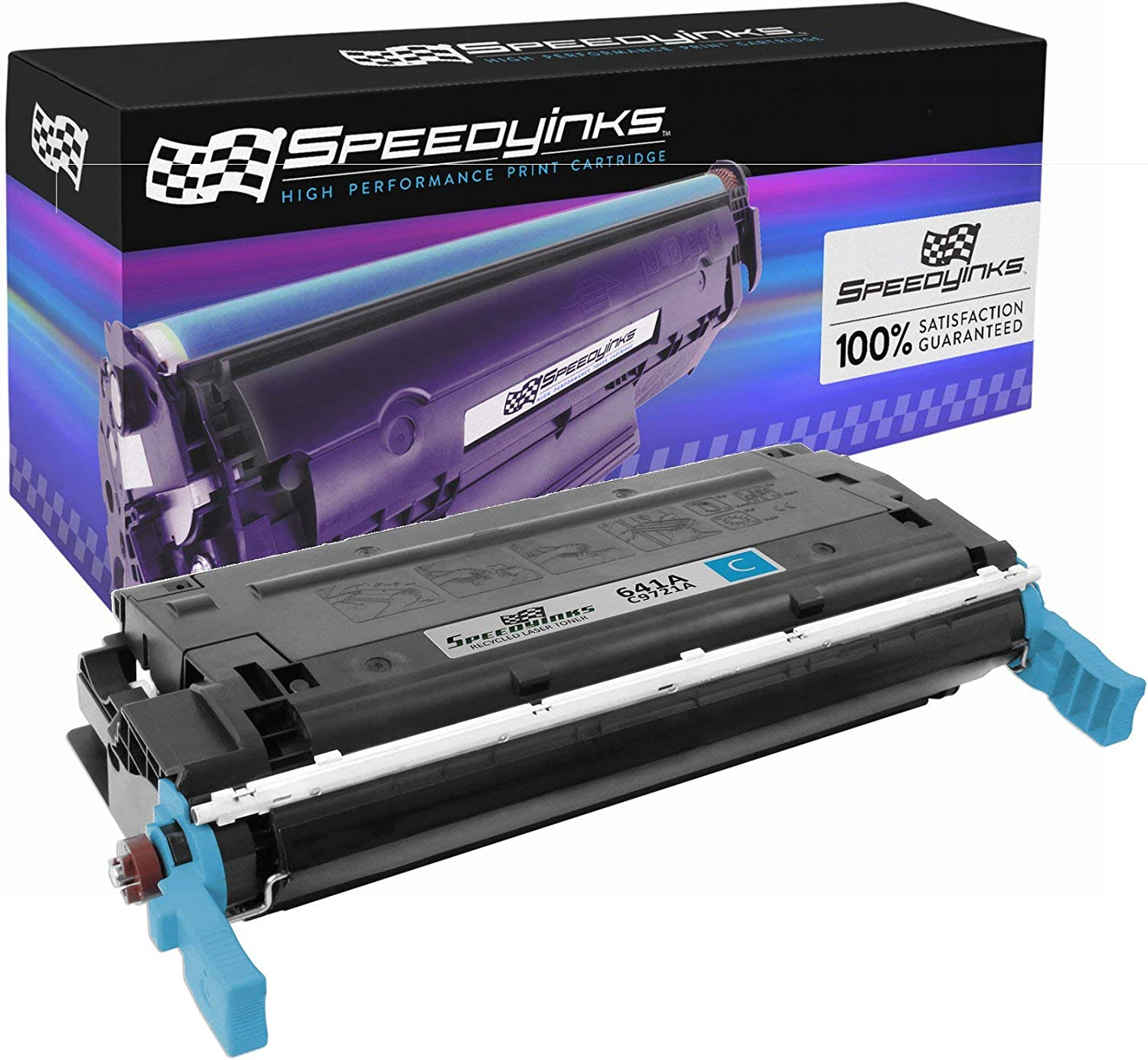Speedy Inks Remanufactured Toner Cartridge Replacement for HP 641A C9721A (Cyan)