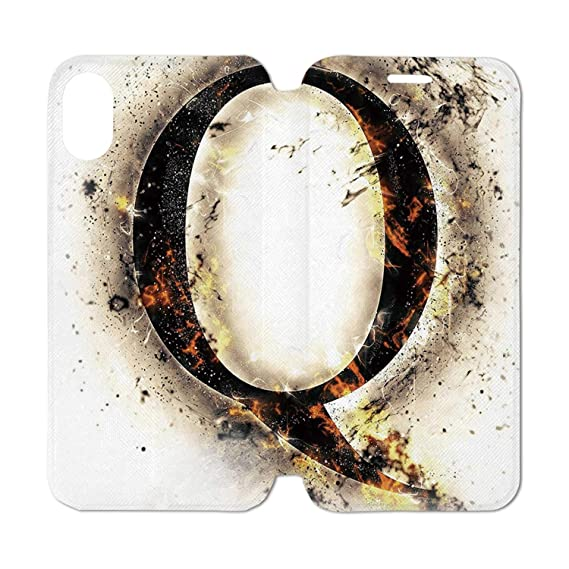 Words That Have The Letter Q.Amazon Com Letter Q Leather Phone Case Words In Flames