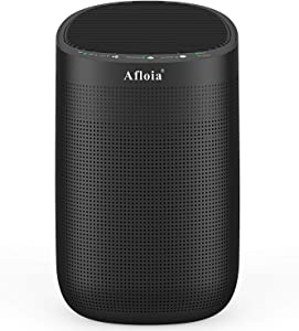 Afloia Air purifier with Dehumidifier, 35 OZ(1000ML) Small Dehumidifiers,H13 True HEPA Filter for Home/Bedroom /Bathroom/Basements/Garage, Mini Dehumidifier for Space Up to 250 sq ft-Super Quiet Black