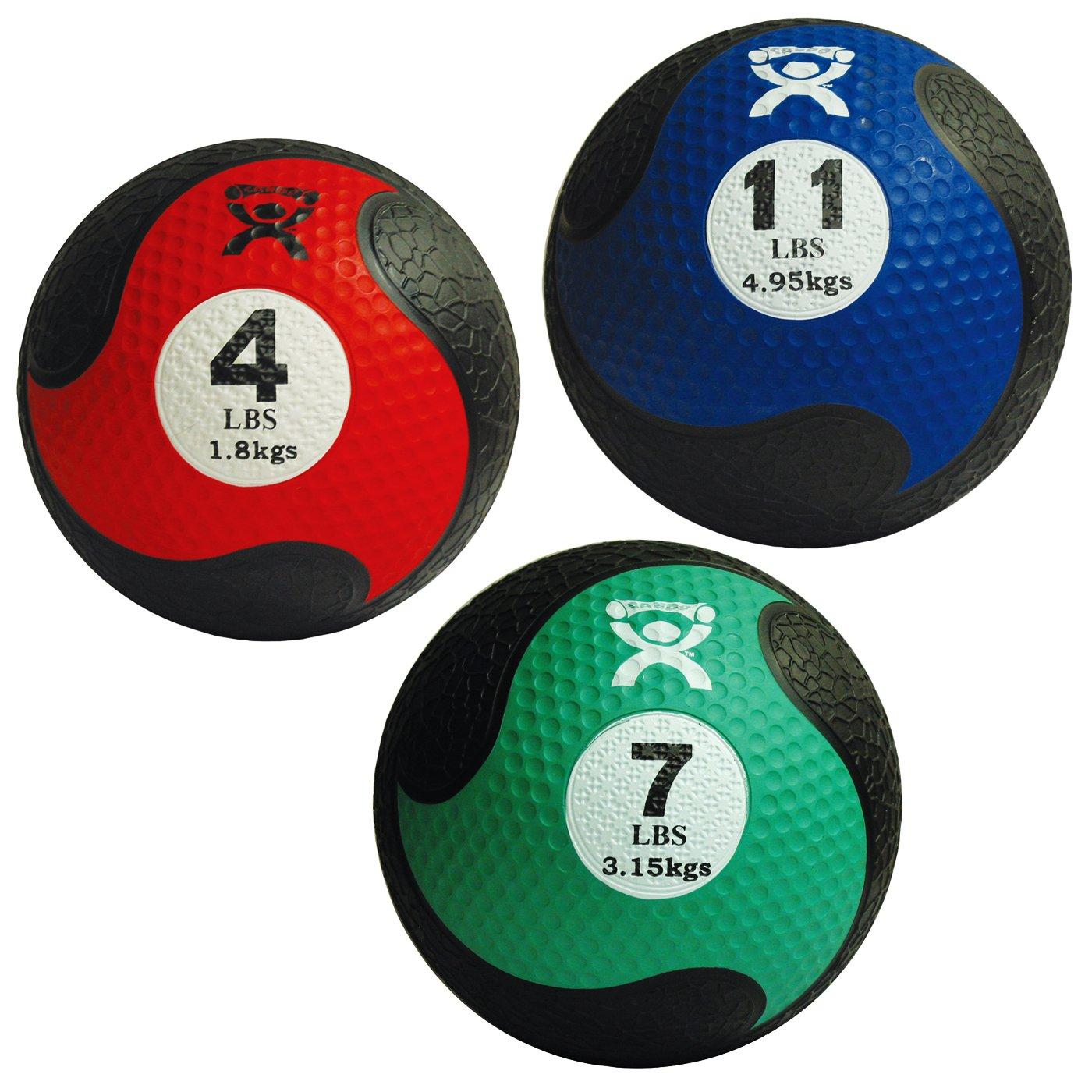 Cando Firm Fitness Medicine Balls - 3-Piece Bundle - 1 Each: 4, 7, 11 LB