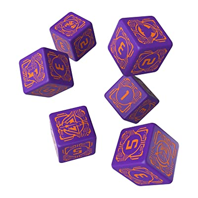 Q WORKSHOP Battletech House Marik D6 Dice (6): Toys & Games