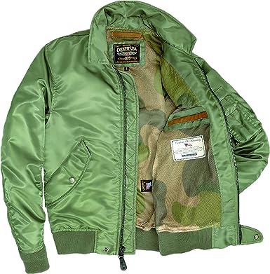 fbd4fbbfe8b Amazon.com  Cockpit USA M-86 Flight Olive Bomber Jacket  Clothing