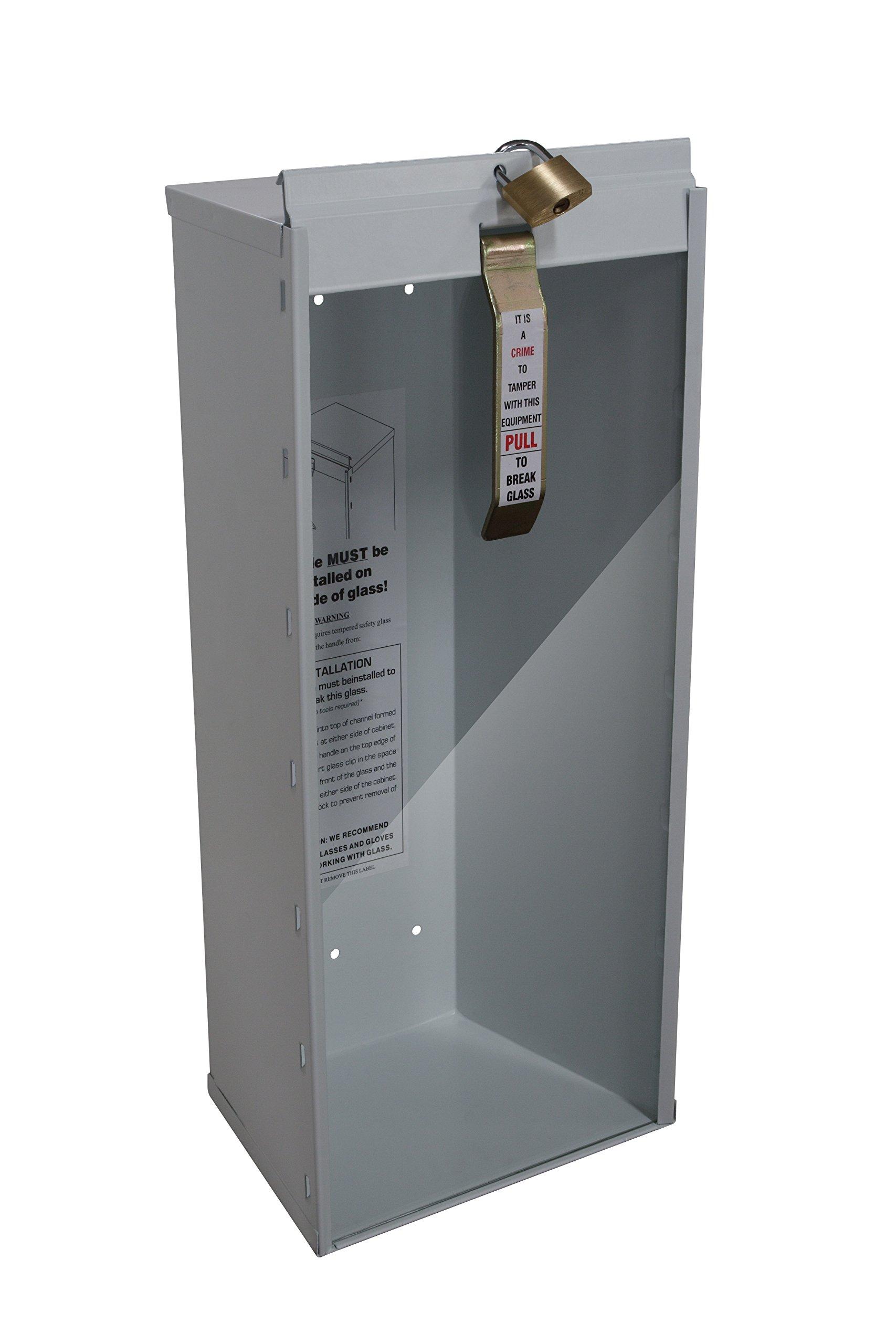 Sandusky Lee 8018-9 Fire Extinguisher Cabinet, Industrial Grade, 5 lb, White