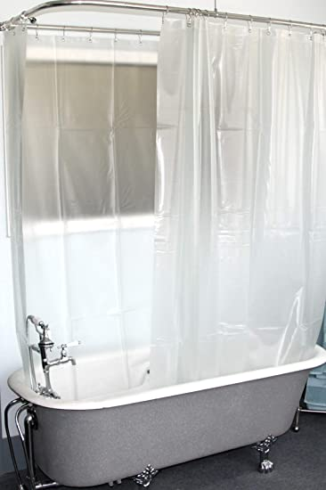 Amazoncom Dl Extra Wide Vinyl Shower Curtain For A Clawfoot Tub