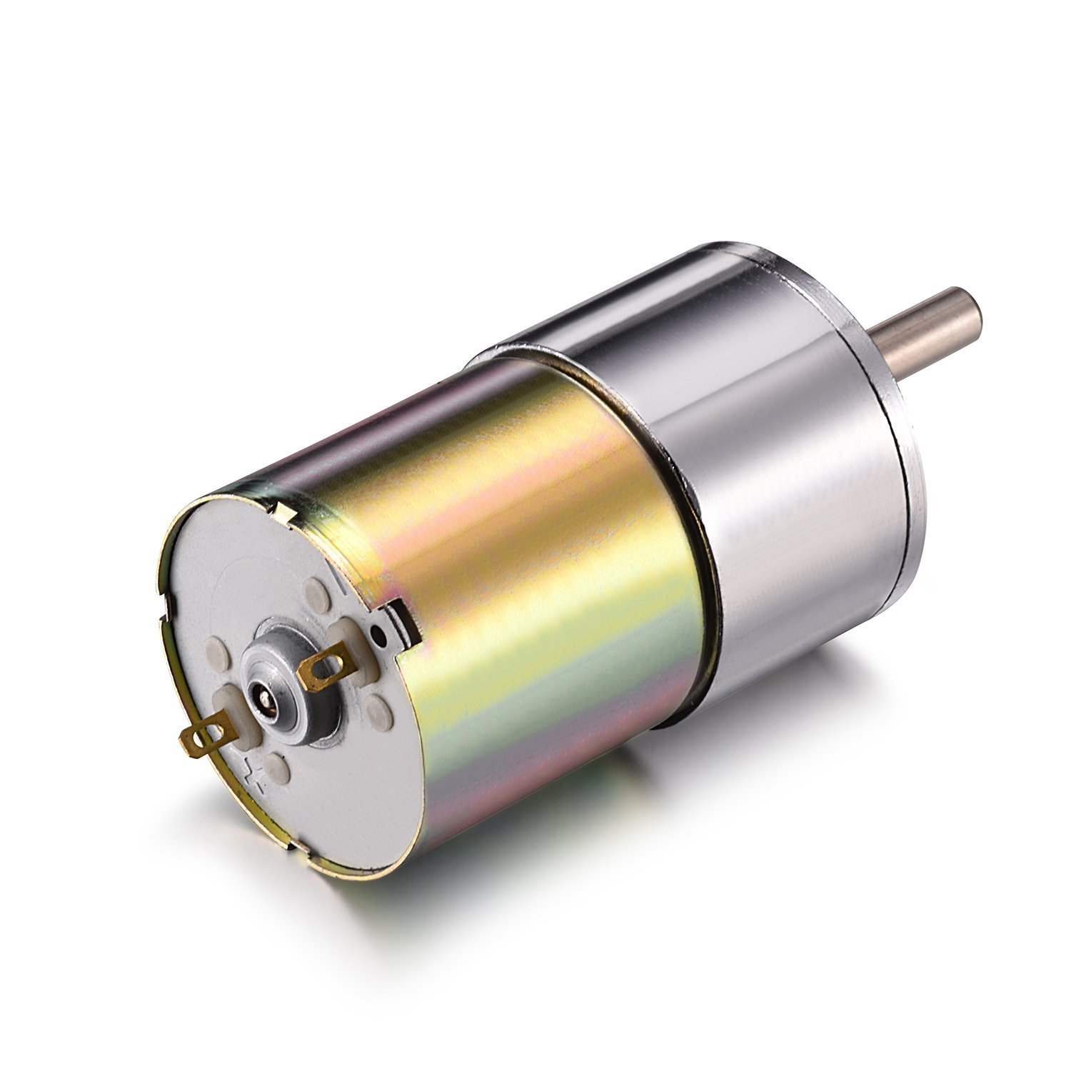 12V DC 5RPM Speed Adjustable Reversible Gear Motor 147Ncm High Torque Electric Reduction Gearbox Eccentric Output Shaft 37mm Diameter Gearbox