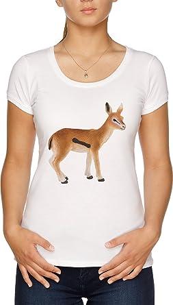 Vendax Gacela Camiseta Mujer Blanco: Amazon.es: Ropa