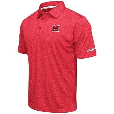 Mens Miami RedHawks Short Sleeve Polo Shirt