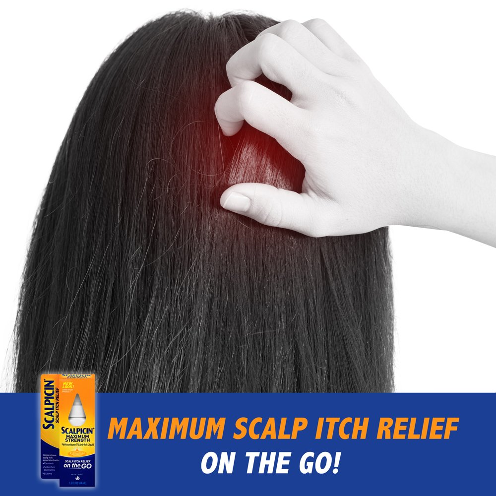 Scalpicin Max Strength Scalp Itch Treatment, 1.5 Ounce (Pack of 3) : Beauty