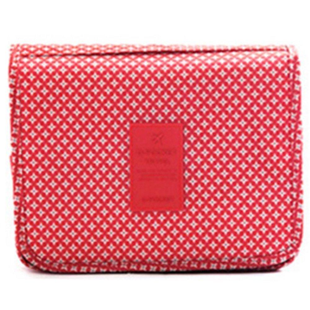 Eleidgs Multifunción Neceser Bolsa de aseo viaje de negocios viajes de vacaciones para colgar Toiletry Bag bolsa de lavado bolsa de cosméticos bolsa de aseo (estrella roja)