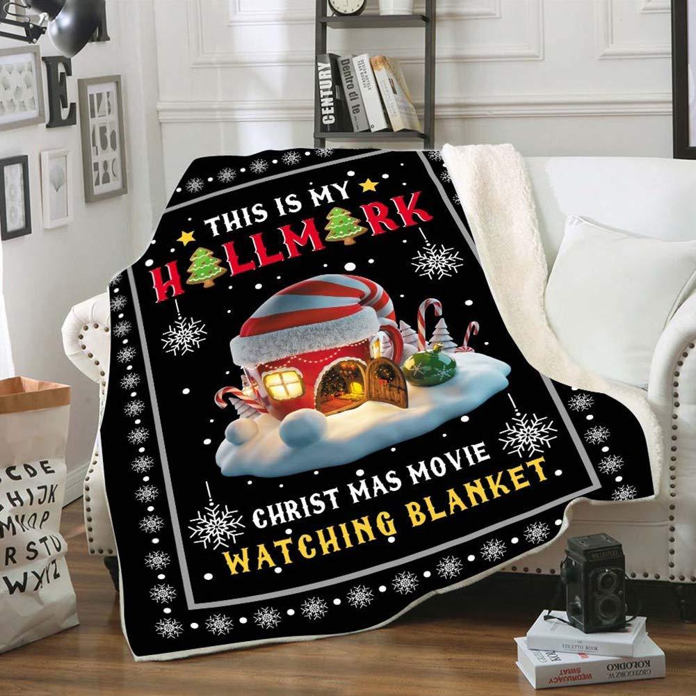 GUNMAN 3D Printed Hooded Quilt-This is My Favorite Christmas Movie Watching Blanket Quilt-Hallmark Christmas Movie Watching Blanket Quilt-Soft Thickened Velvet Plush Throw Blanket
