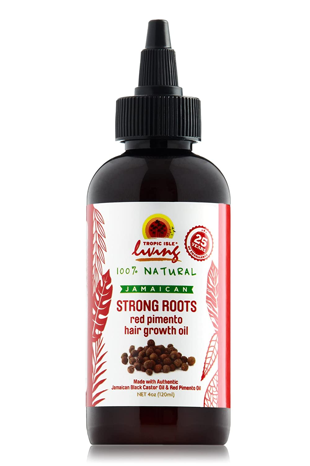 Tropic Isle Living- Strong Roots Red Pimento Hair Growth Oil-4oz TILSRRPHGO4OZFBA001
