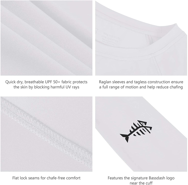 Bassdash Women/'s UPF 50 UV Sun Protection T-Shirt Long Sleeve Fishing Hiking Performance Shirts