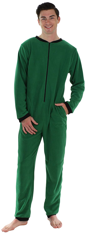 Sleepyheads Ropa de Dormir para Hombre Pijama de una Pieza sin pies Mono de Vellón de Colores