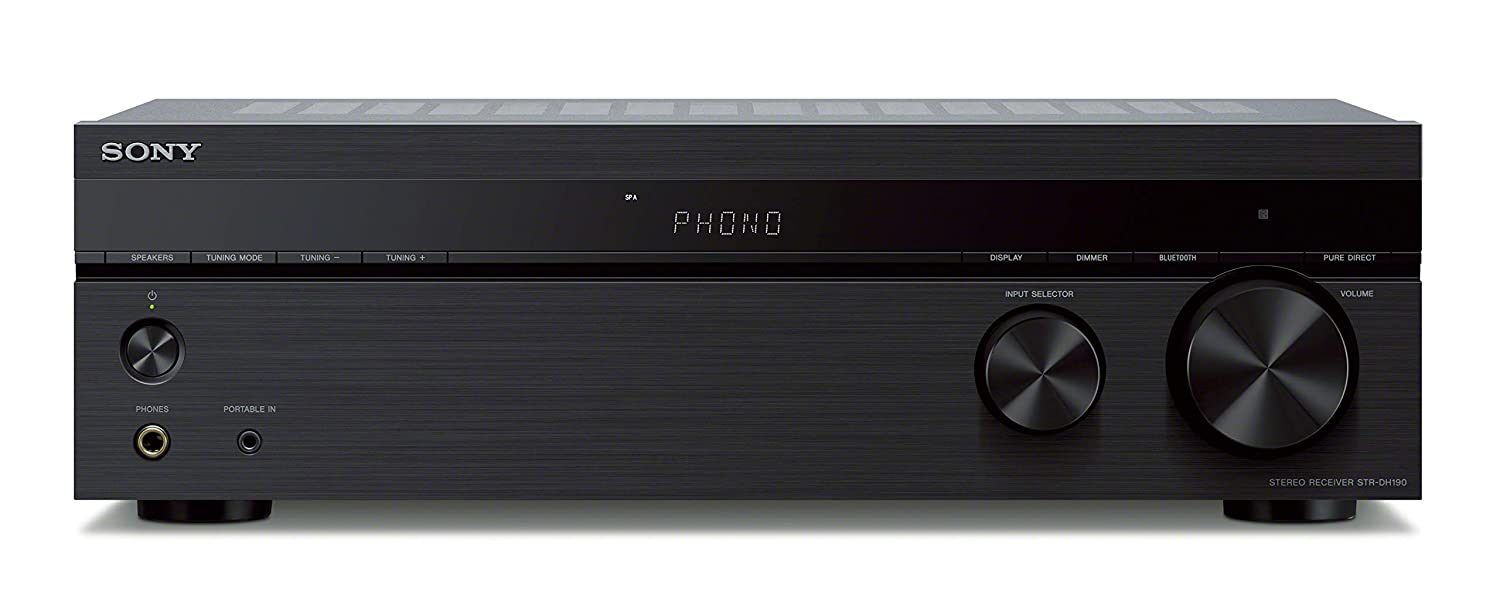 Sony STRDH190 2-ch Stereo Receiver with Phono Inputs and Bluetooth (Renewed)