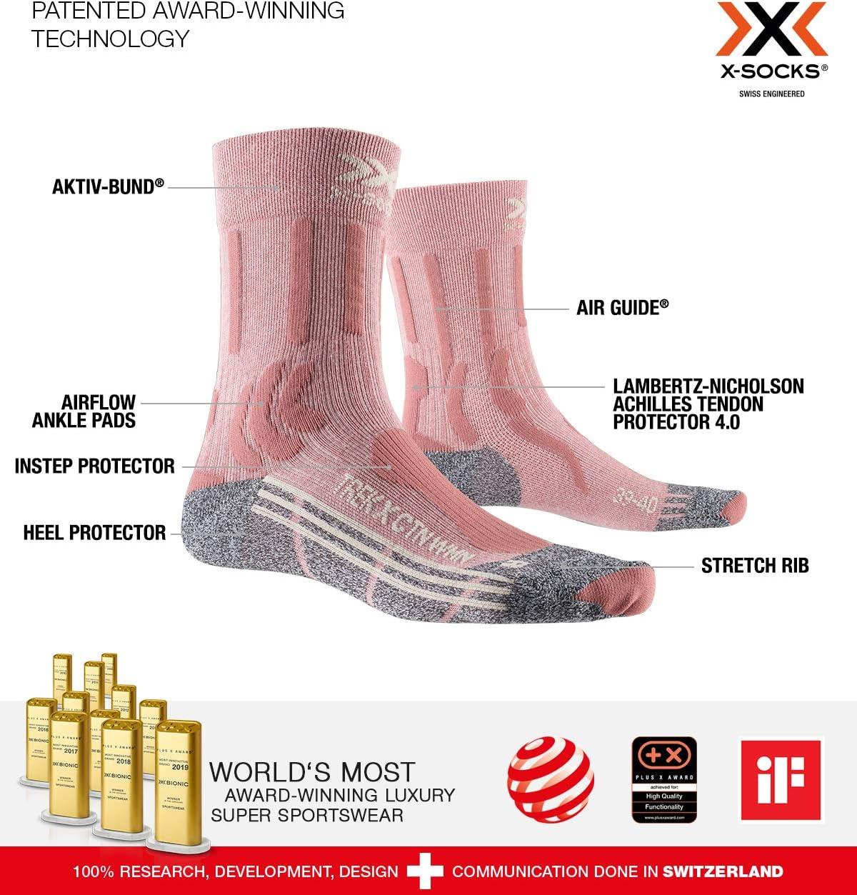 Unisex Adulto X-Socks Trek X Cotton Woman Socks Calcetines de Senderismo Trekking Mujer