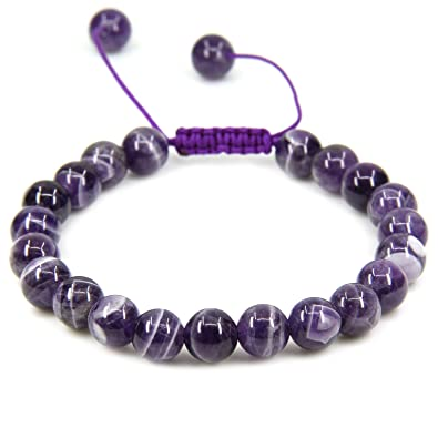 Handmade Gemstone 6mm Round Beads Adjustable Braided Macrame Tassels Chakra Reiki Bracelets 7-9 inch Unisex SCymh5Z8YS