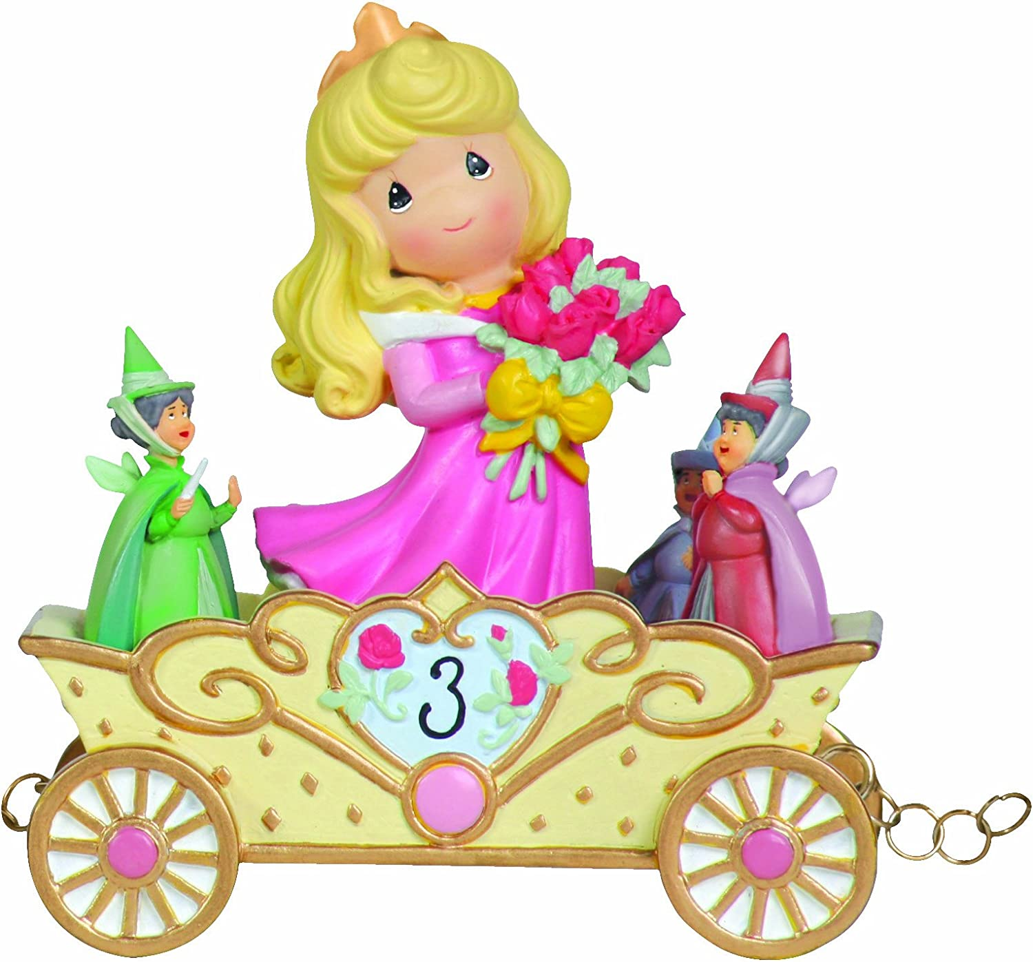 Precious Moments, Disney Showcase Collection,Now You're Three, A Beauty You'll Always And Forever Be, Disney Birthday Parade, Age 3, Resin Figurine, 104405