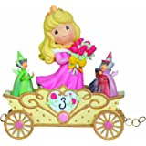 Precious Moments, Disney Showcase Collection,  Now You're Three, A Beauty You'll Always And Forever Be, Disney Birthday Parade, Age 3, Resin Figurine, 104405