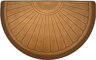 product image for WellnessMats Studio Copper Leaf Polyurethane 36 x 22 Inch Semi Sunburst Anti-Fatigue Mat
