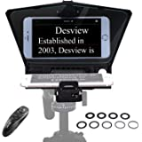 【Desview Official Store】 Desview-T2-Teleprompter for Smartphone Tablet 8 inch DSLR Camera Portable Teleprompter Kit with Remo