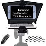 【Desview Official Store】 Desview-T2-Teleprompter for Smartphone Tablet 8 inch DSLR Camera Portable Teleprompter Kit with…